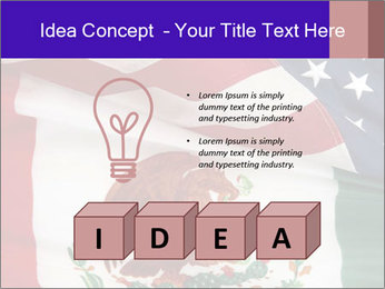 Mexican and American flags PowerPoint Template - Slide 80