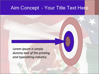 Mexican and American flags PowerPoint Template - Slide 83