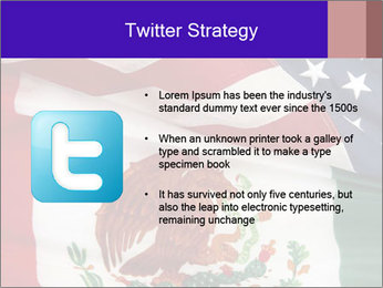 Mexican and American flags PowerPoint Template - Slide 9