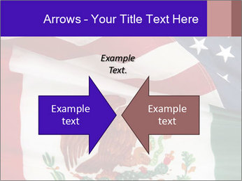 Mexican and American flags PowerPoint Template - Slide 90