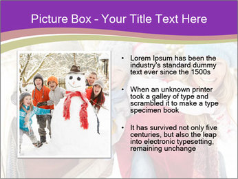 Family Having Fun Snowy PowerPoint Template - Slide 13