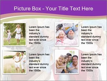 Family Having Fun Snowy PowerPoint Template - Slide 14