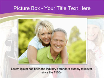 Family Having Fun Snowy PowerPoint Template - Slide 16