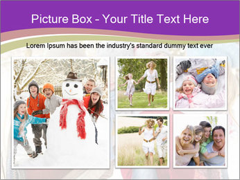 Family Having Fun Snowy PowerPoint Template - Slide 19