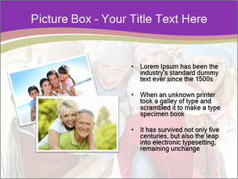 Family Having Fun Snowy PowerPoint Template - Slide 20