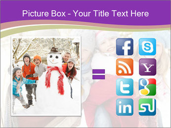 Family Having Fun Snowy PowerPoint Template - Slide 21