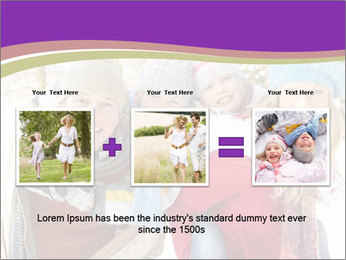 Family Having Fun Snowy PowerPoint Template - Slide 22