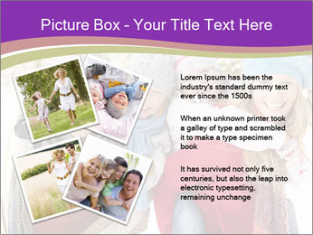 Family Having Fun Snowy PowerPoint Template - Slide 23