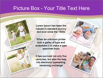 Family Having Fun Snowy PowerPoint Template - Slide 24