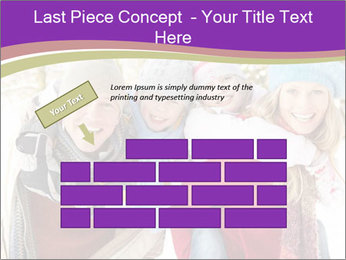 Family Having Fun Snowy PowerPoint Template - Slide 46