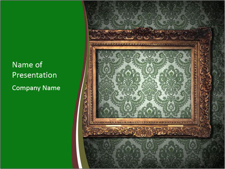 Frames on the wall PowerPoint Template