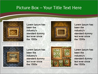 Frames on the wall PowerPoint Template - Slide 14