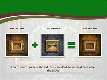 Frames on the wall PowerPoint Template - Slide 22