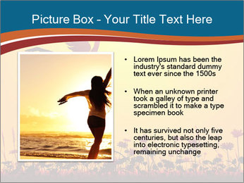 Silhouette of a young girl jumping PowerPoint Template - Slide 13