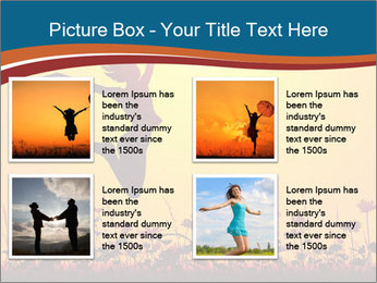Silhouette of a young girl jumping PowerPoint Templates - Slide 14