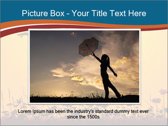 Silhouette of a young girl jumping PowerPoint Template - Slide 16