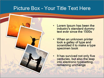 Silhouette of a young girl jumping PowerPoint Templates - Slide 17