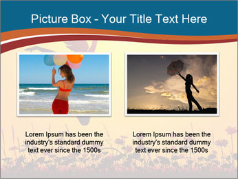 Silhouette of a young girl jumping PowerPoint Templates - Slide 18