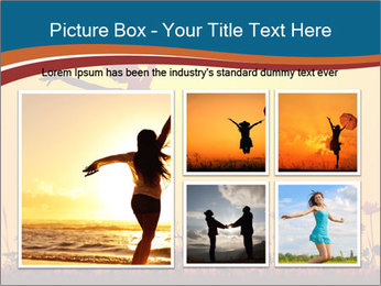 Silhouette of a young girl jumping PowerPoint Template - Slide 19