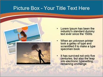 Silhouette of a young girl jumping PowerPoint Template - Slide 20