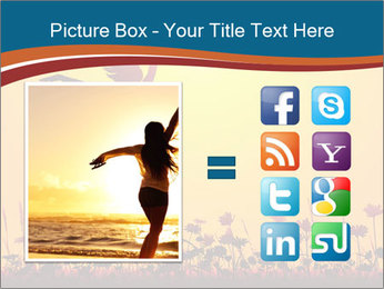 Silhouette of a young girl jumping PowerPoint Template - Slide 21