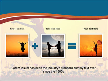 Silhouette of a young girl jumping PowerPoint Template - Slide 22