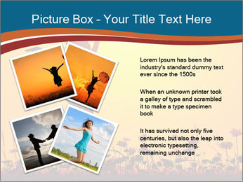 Silhouette of a young girl jumping PowerPoint Template - Slide 23