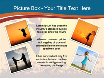 Silhouette of a young girl jumping PowerPoint Template - Slide 24