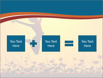 Silhouette of a young girl jumping PowerPoint Template - Slide 95