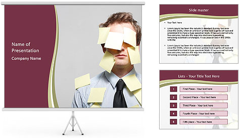 Man covered PowerPoint Template