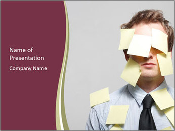 Man covered PowerPoint Templates - Slide 1