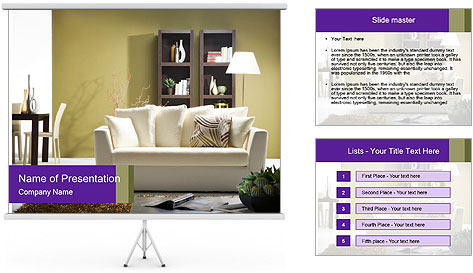 Modern living room PowerPoint Template