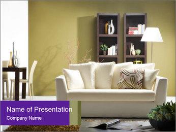 Modern living room PowerPoint Templates - Slide 1