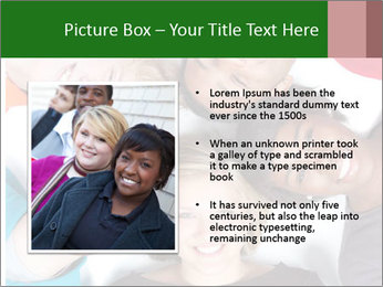 Multi-racial college students PowerPoint Template - Slide 13