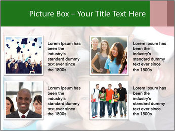 Multi-racial college students PowerPoint Templates - Slide 14