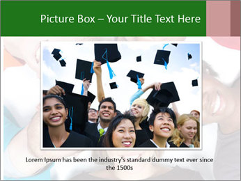Multi-racial college students PowerPoint Templates - Slide 16