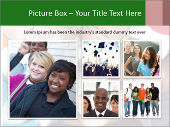 Multi-racial college students PowerPoint Templates - Slide 19