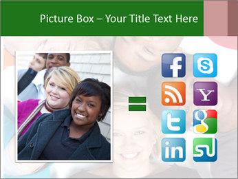 Multi-racial college students PowerPoint Templates - Slide 21