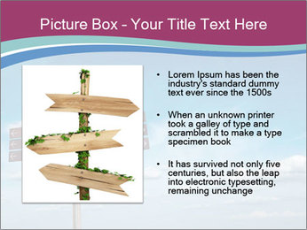 Blank signpost in sky PowerPoint Templates - Slide 13