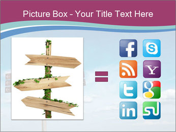 Blank signpost in sky PowerPoint Templates - Slide 21