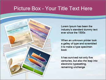 Blank signpost in sky PowerPoint Templates - Slide 23