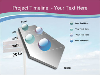 Blank signpost in sky PowerPoint Templates - Slide 26