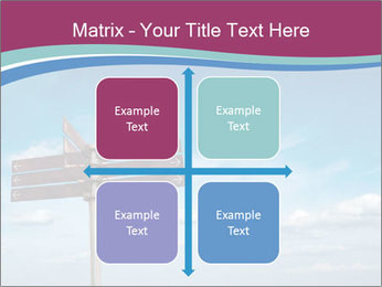 Blank signpost in sky PowerPoint Templates - Slide 37