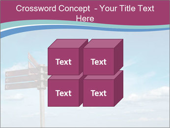Blank signpost in sky PowerPoint Templates - Slide 39