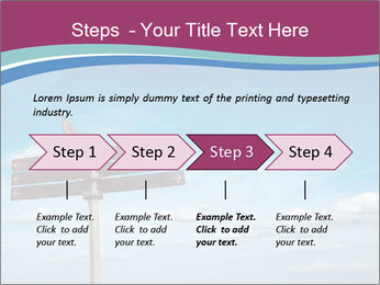 Blank signpost in sky PowerPoint Templates - Slide 4