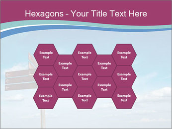 Blank signpost in sky PowerPoint Templates - Slide 44