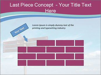Blank signpost in sky PowerPoint Templates - Slide 46