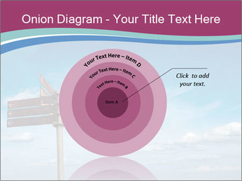 Blank signpost in sky PowerPoint Templates - Slide 61