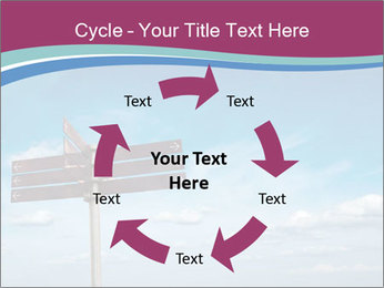 Blank signpost in sky PowerPoint Templates - Slide 62