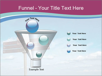 Blank signpost in sky PowerPoint Templates - Slide 63
